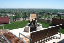 Roof Top Design / Want to create a flawless design for your urban home?  Adding EasyTurf brings a backyard feel even if you lack a yard.