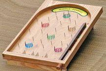 Pin ball wooden games