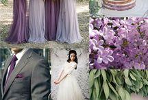 White Green Lilac Wedding