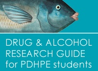 PDHPE resources / Links to resources about smoking, alcohol and other drugs, mental health and mood disorders for teaching and studying Personal Development, Health and Physical Education (PDHPE).