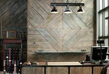 Wood Walls / Our personal favorite way to decorate a plain wall. We have planked walls, ceilings, mantles & more.