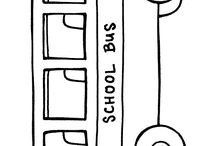 Colouring picture of bus