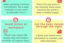 Breastfeeding Infographics / Breastfeeding tips, breastfeeding facts, breastfeeding information, all in easy to read infographic form. Breastfeeding infographics are a great reference and they are easy to share.