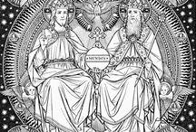 God - Catholic Black and White