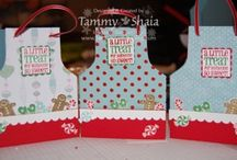 gift tags using Stampin Up! products and others