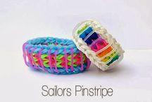 Rainbow Loom Patterns: Sailors Pinstripe Rainbow Loom Pattern (youtube tutorial)