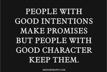 Character. Integrity