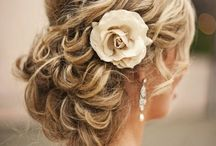 Romance updo wedding