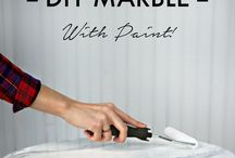 DIY marble with paint