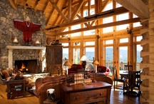 Log - Home - Decorating / Log home and timber frame home designs and decorating ideas.   / by Samantha Beals