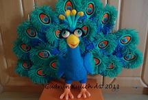 Crochet - Peacocks !