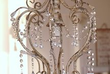 Chandeliers, lamps, candles