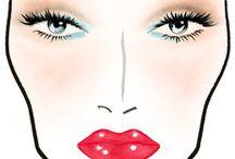 Make up + Face charts