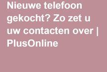 Contacten overzetten nieuwe telefoon