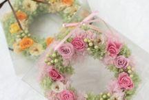 リース wreath / ys  floral deco  両親様贈呈用、受付装飾用、ギフト用などの用途でこれまでにお作りしたリースです