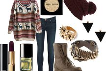 mix & match / combines, clothes, accessories etc.