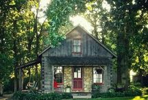 """Small Houses or Little """"green"""" Houses / Cottages or tiny houses....sustainable, easier to be green, just because you can buy a larger home....why?  Thinking of the outdoor space as more important than indoor space....and how our view of living is evolving."""