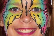 SCHMINKEN / leuk voor carnaval of feestjes