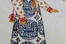 Folk / Russian folk costume, scandinavian costume and other