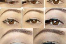 Идеи макияжа / Идеи макияжа. Красивый макияж глаз. Варианты и примеры модного макияжа. Вечерний макияж. Макияж фото пошагово. Уроки макияжа поэтапно.