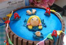 Zwemdiploma taart