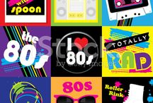 I love the 80s / A collection of vector images of the 80s by JDawnInk.