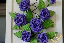 quadro com rosas florais