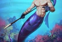 Русалки...Морская тематика...