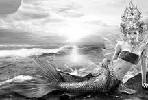 """""""MERMAIDS OUT OF WATER"""" / mythical mermaids to fashionable ones..."""