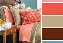 Combinación de colores xa decoración