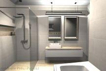 moje łazienki / Moje projekty dla różnych inwestorów.