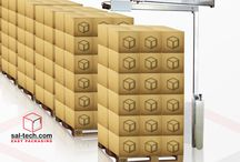Pallet Wrapping Machines / Pallet Wrapping is used to secure and protect palletized goods. A winding of the pallet with a wrapping film will stabilize the pallet so that it does not fall over and fall apart during transport. One can also choose to use colored or treated films, with other properties such as light protection, theft protection, rust protection and rain protection.