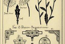 planche herbier/art déco/dessin