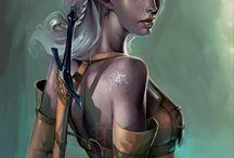 Tribal/elfic style