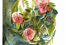 Flower Designs / Beautiful, Whimsical,Watercolor, Ornamental / by Carine Ma