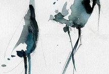 Japanese ink paintings