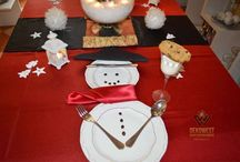 Karácsonyi asztalok