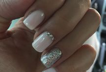 wedding nails for bride