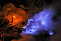 Amazing places / Watching liquid sulphur burn