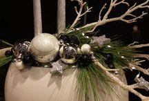Vánoční dekorace - věnce, svícny, dušičky, stolování