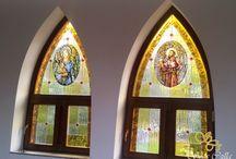templom ólomüveg ablak készítés