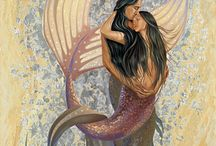 Mermaid Collections / Limited Edition Embellished Giclées, Open Edition Giclées, Mini Prints, and Greeting Cards Available @ www.christinadehoff.com