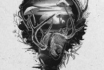 graphics, line art, sketches