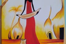 Painting - African Ladies