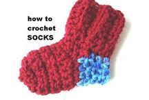 Crochet n knitted socks
