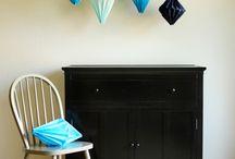 Papier vouwen+ filigrain, silhouet knippen / Met papier werken, kralen, filigrain, vouwen, silhouet knippen
