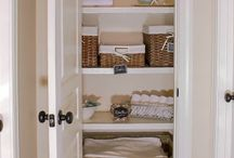 Closets cabinets / Organization ideas / by Rosalee Roberts