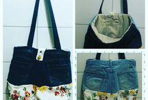 Feito por mim / Bolsa infantil - jeans customizado
