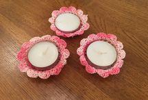 Crochet Candles Holder