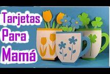 Manualidades para el dia de las madres / Manualidades para regalar el Día de las Madres, Flores de papel, Tarjetas del Día de la Madre, Portaretratos, Collares, Cuadros, Pulseras, Anillos y mas manualidades.